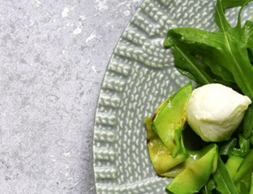 Ensalada de calabacín y perlas de mozzarella